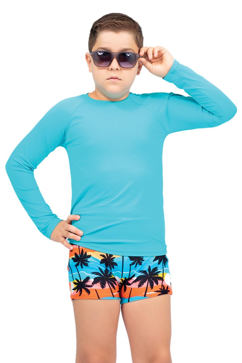 Camiseta juvenil manga longa proteção solar UV 50+