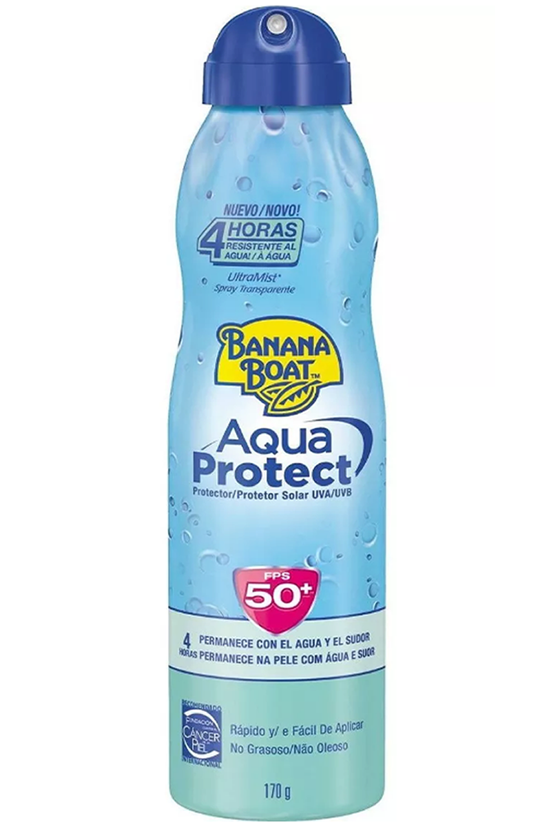 Protetor Solar Banana Boat Aqua Protect FPS50+ 170g 220ml